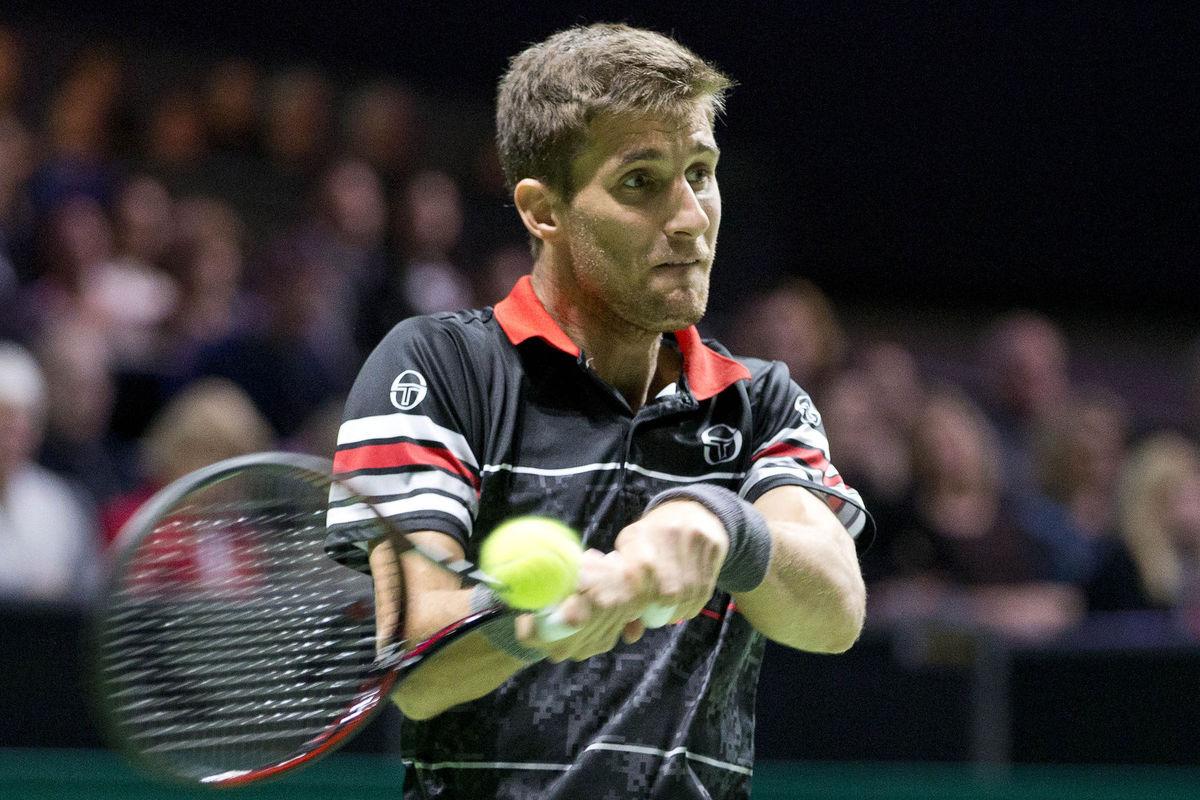 Martin Kližan vo finále turnaja v Rotterdame.