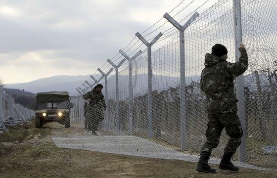 Plot na macedónsko–gréckej hranici.