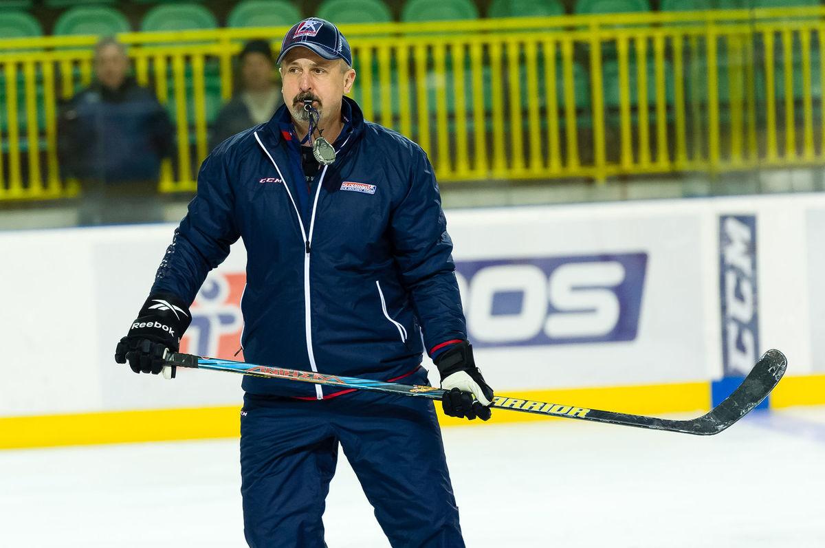 Zdeno Cíger na tréningu slovenskej hokejovej reprezentácie.