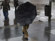 dážď, vietor, dáždnik, kvapky, počasie, Madrid, Španielsko