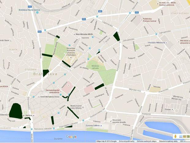 Bratislava zrevitalizuje vyznačené lokality.