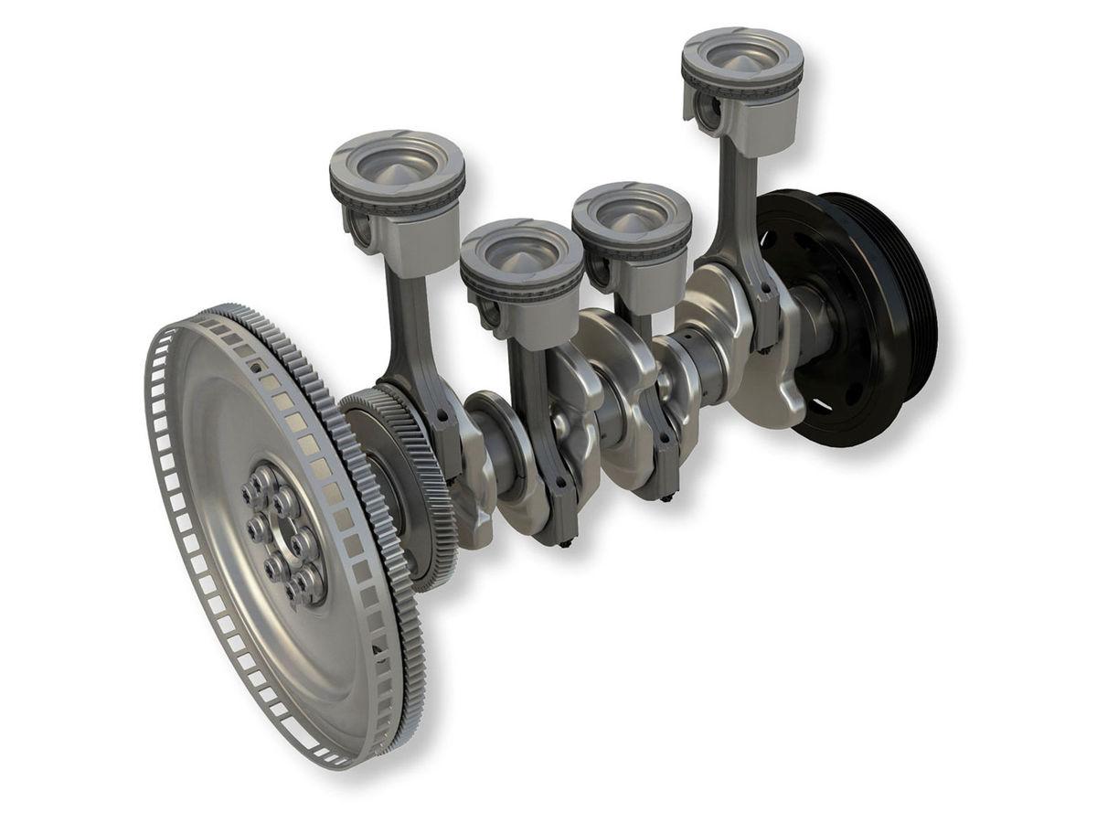 Motor používa oceľové piesty so špeciálnym tvarom dna. To zvyšuje jeho účinnosť.