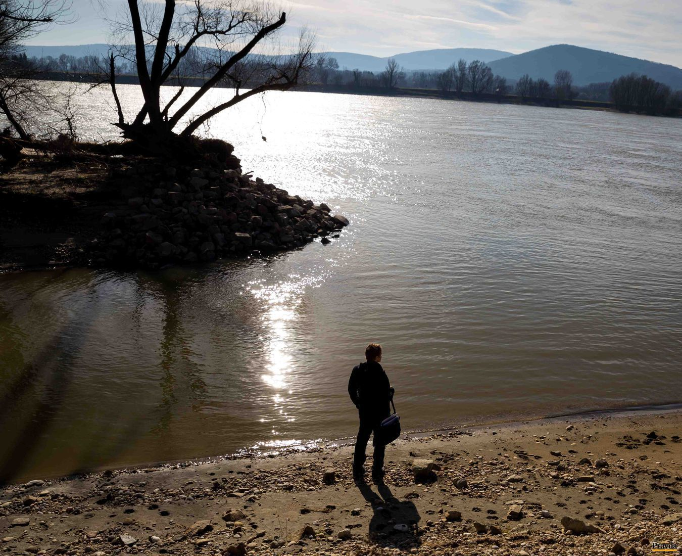 Vstup do Devínskeho ramena na Dunaji.