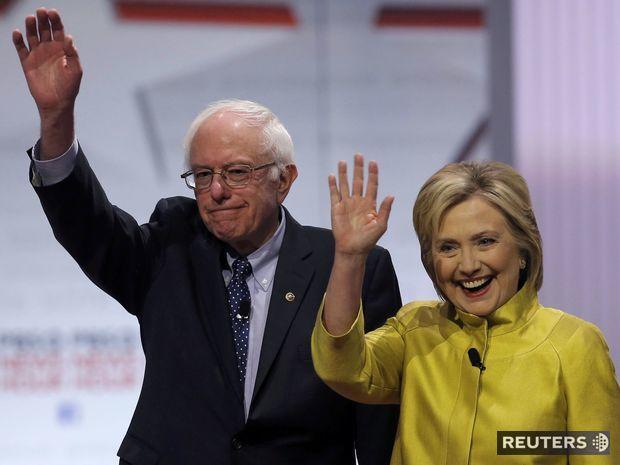 Bernie Sanders, Hillary Clintonová
