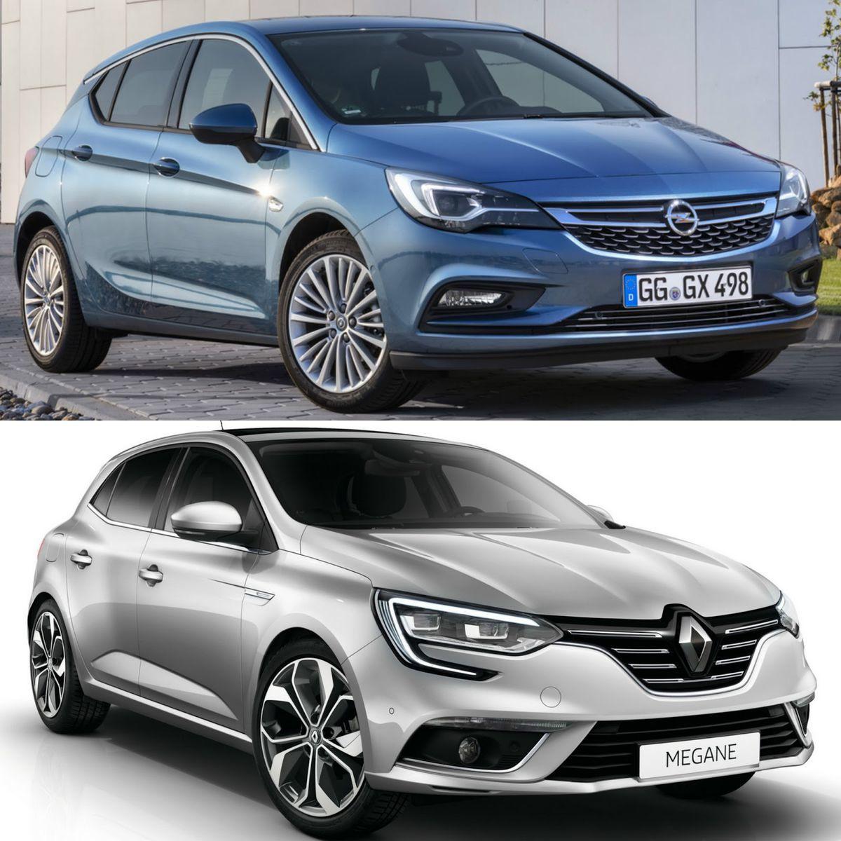 Nové generácie Oplu Astra a Renaultu Mégane.