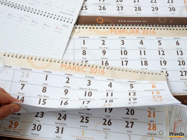 kalendár, mená