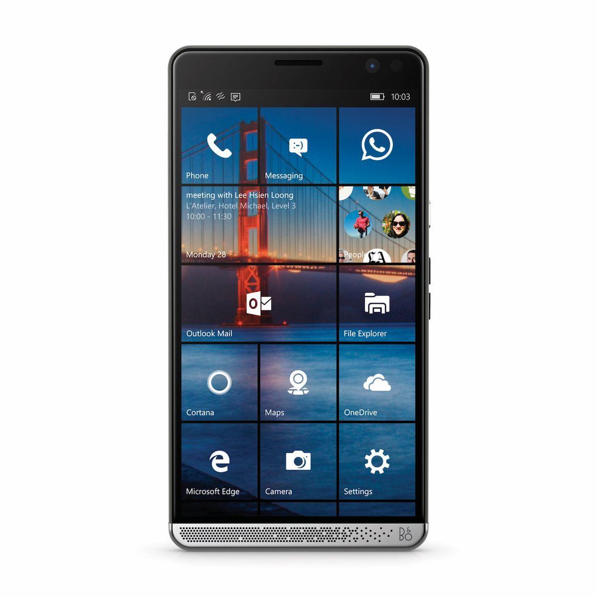 Zvuk na smartfóne HP Elite x3 bola ladený firmou Bang&Olufsen.