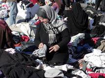 Gaza, palestína, Izrael, žena, oblečenie, trh,