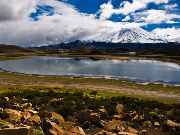 Vytúžený cieľ bol vulkán Parinacota.