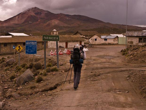 Obec Parinacota oficiálne hlási 29 obyvateľov, no nám sa nepodarilo stretnúť ani jedného.