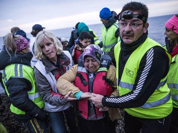 Grécko, migranti