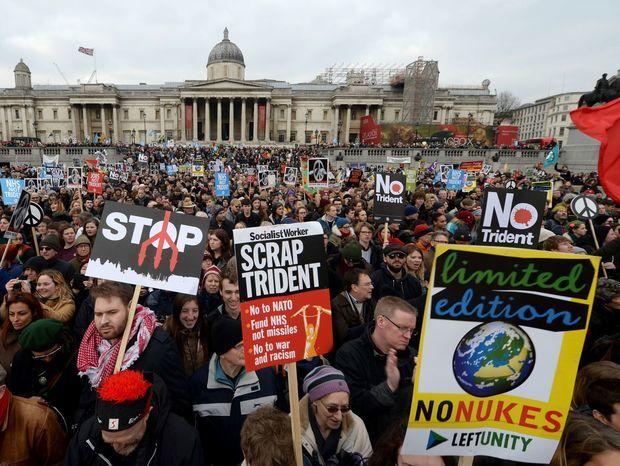 Londýn, protest