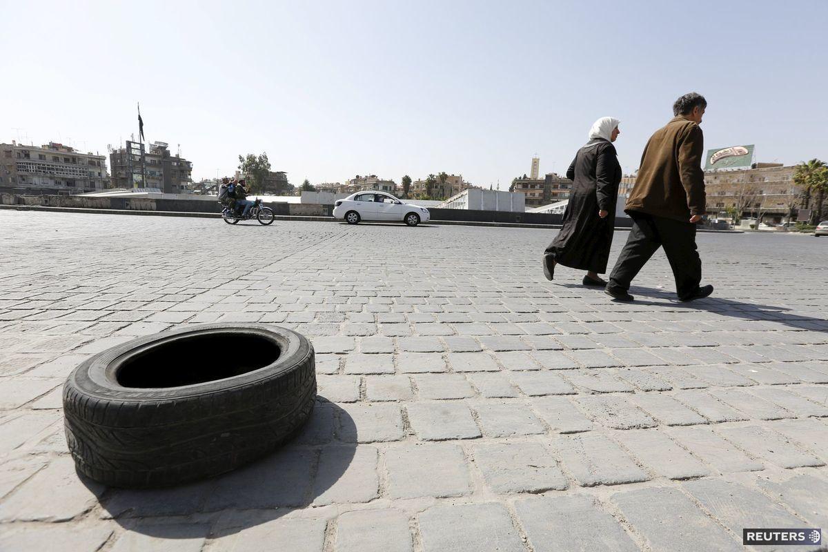Predmestie Damasku.
