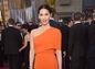 Herečka Olivia Munn a jej oranžové šaty od Stelly McCartneyovej.