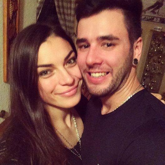 Boris Vlha s priateľkou a lyžiarkou Martinou Dubovskou.