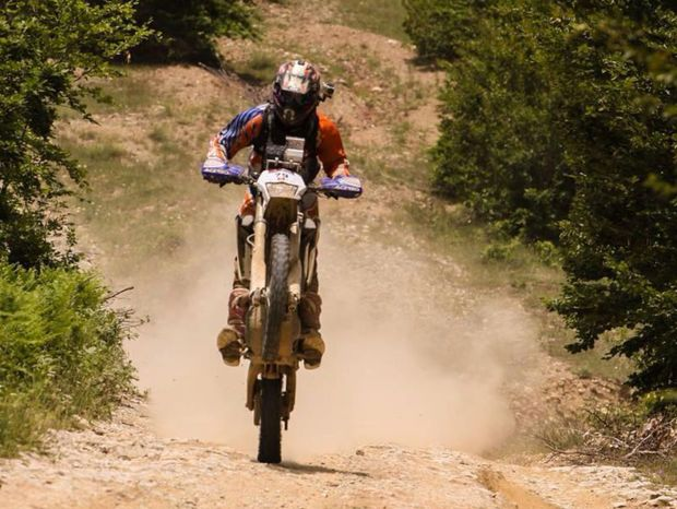 Boris Vlha počas pretekov.