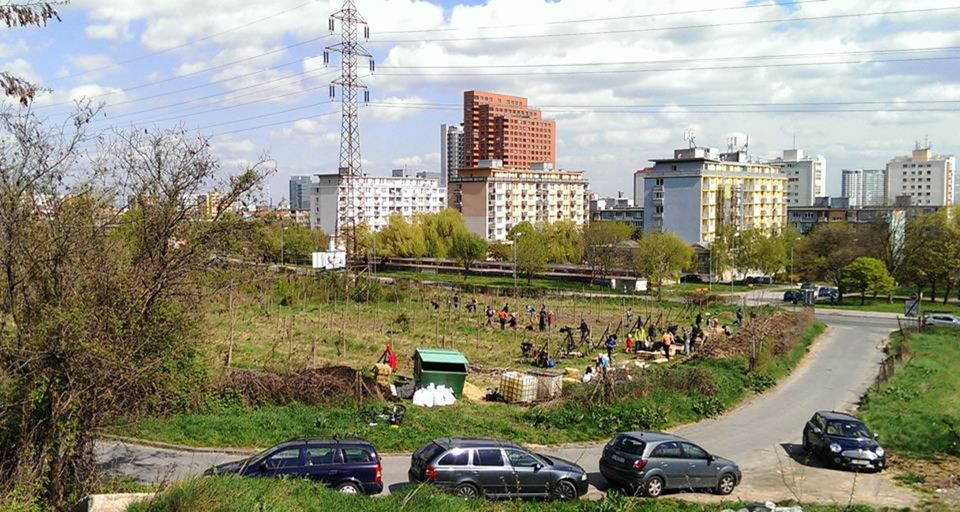 Mobilná záhrada, vinica, vznikla v mestskej časti Nové Mesto.