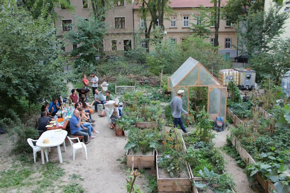 Sezóna v mobilnej záhrade na Sasinkovej v plnom prúde. Susedia sa stretávali a v kvetináčoch vidieť budúcu úrodu.