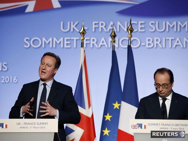 Francois Hollande, David Cameron, Amiens