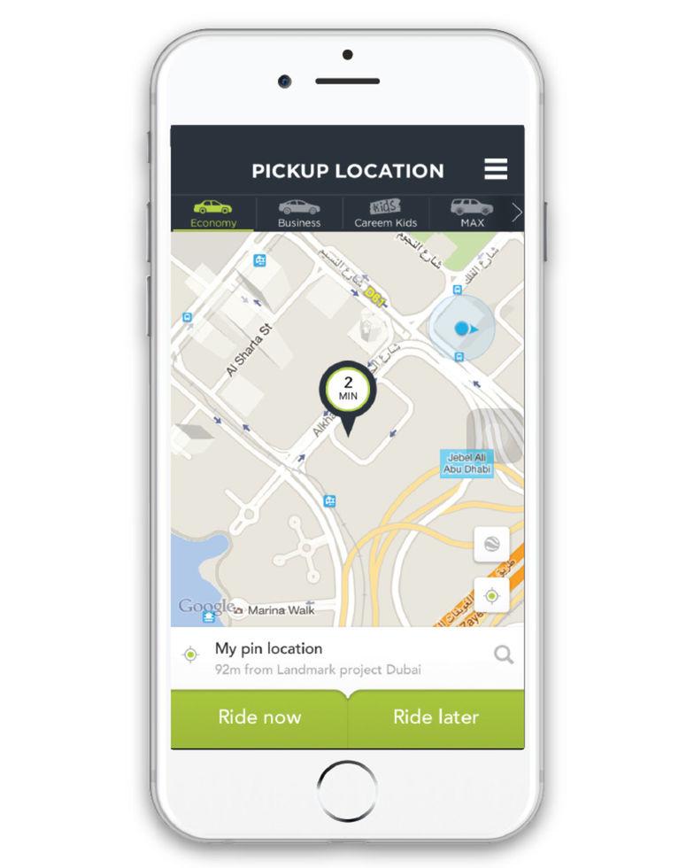 Služba Careem je dubajskou alternatívou k Uberu.