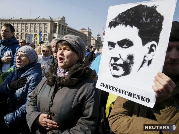 savčenková, protest, kyjev,