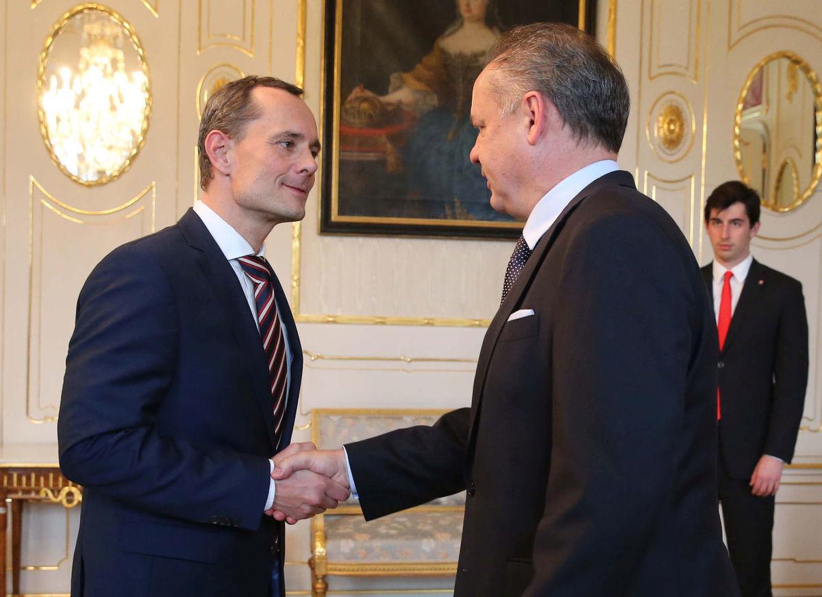 Predseda strany Sieť Radoslav Procházka na stretnutí s prezidentom Andrejom Kiskom.