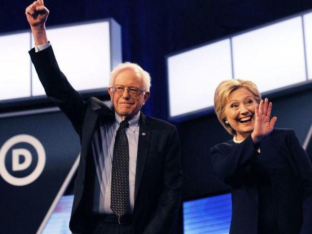 Sanders, Clintonová