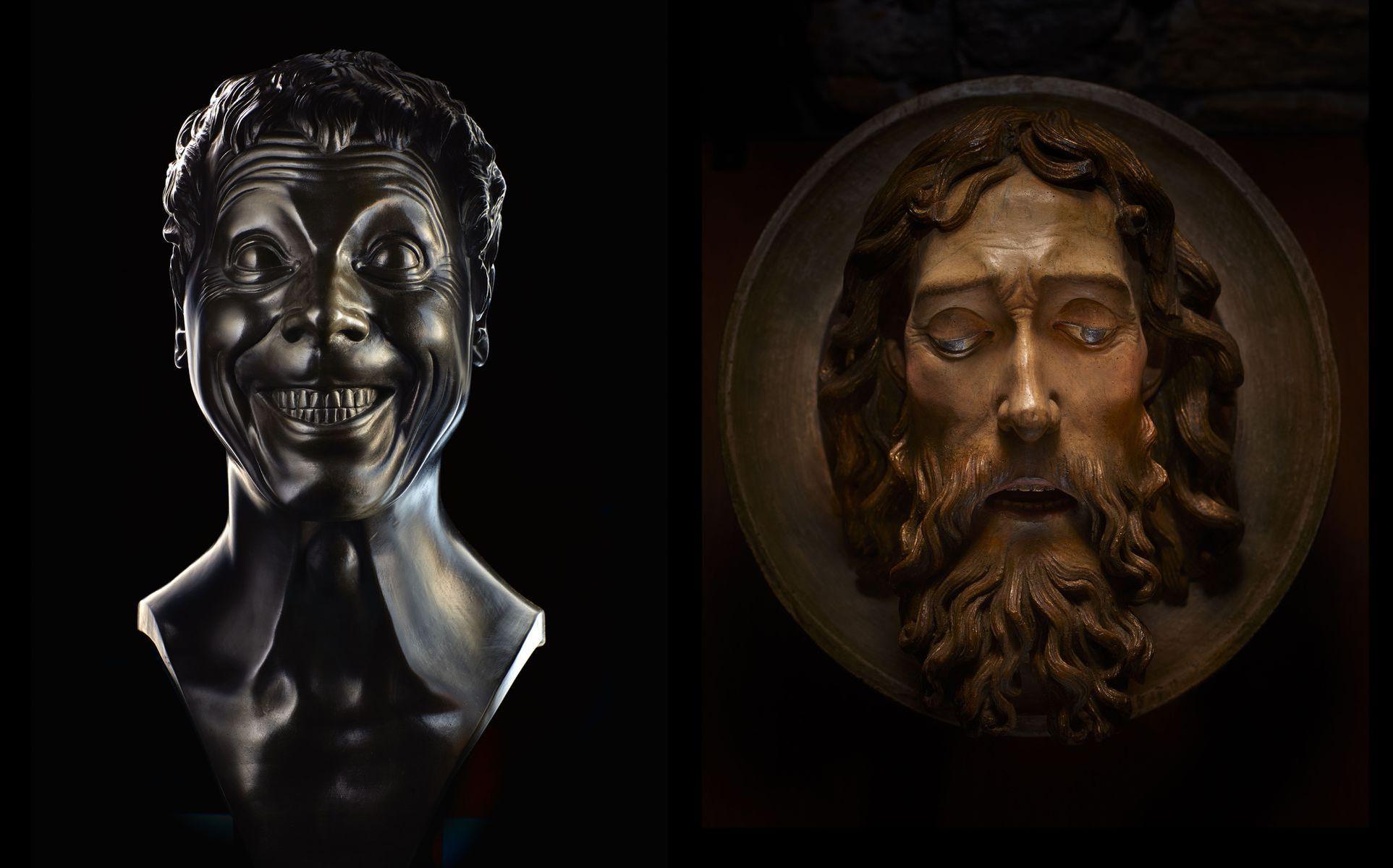 Sochár Franz Xaver Messerschmidt, autor cyklu 69 Charakterových hláv, prežil svoje najplodnejšie tvorivé obdobie v Bratislave. Na výstave uvidíte fotografiu busty zo zbierok Slovenskej národnej galérie, ktorá vraj predstavuje telesne trestaného cigánskeho vojaka.