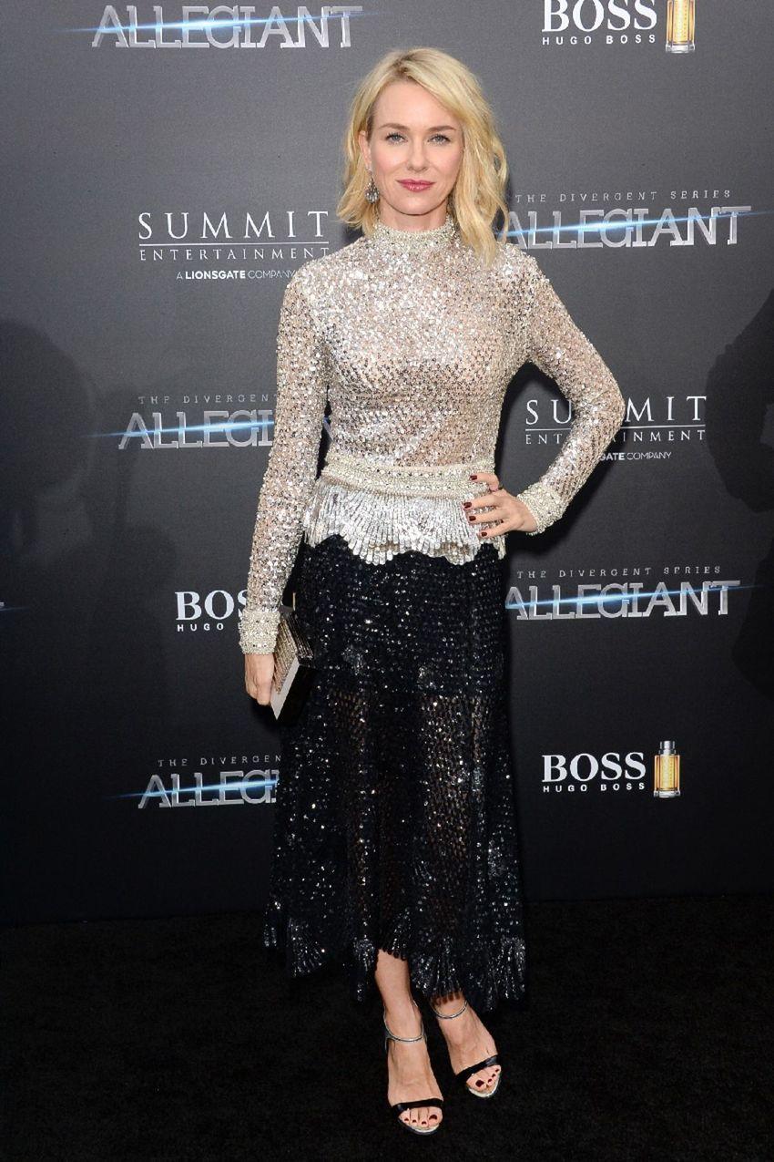 Naomi Watts na premiére novinky zo ságy Divergencia.