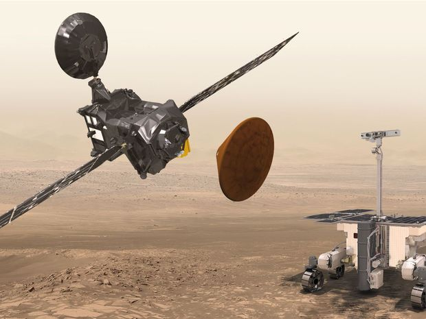 misia ExoMars, satelit TGO, Schiaparelli
