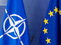 NATO, EÚ, vlajka