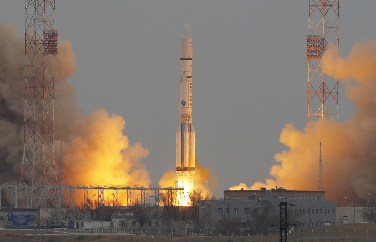 Štart ruskej rakety Proton M.