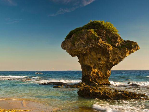 ostrov Liuqiu, more,