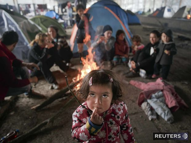 Idomeni, grécko, migranti, utečenci