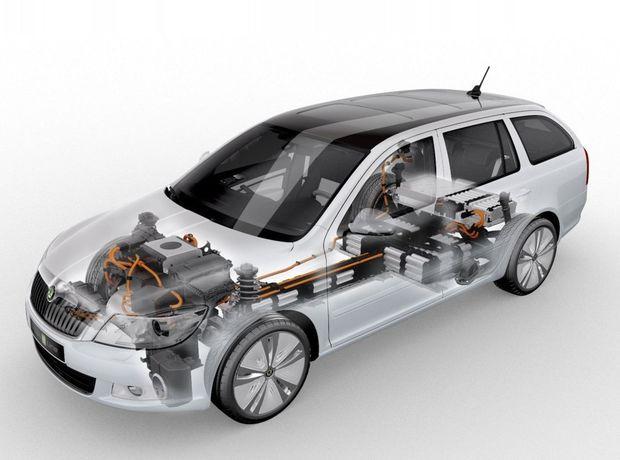 V roku 2010 predstavila Škoda v Paríži koncept elektrickej Octavie Geen E Line. Do výroby sa nikdy nedostala. Jej nástupkyňa by mala maž dojazd až 500 km a jej dobíjanie by nemalo zabrať viac ako 15 minút.