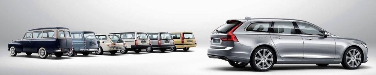 Volvo má vo výrobe kombi dlhoročnú tradíciu. Prvý model Duett prišiel na svet pred viac ako šesťdesiatimi rokmi.
