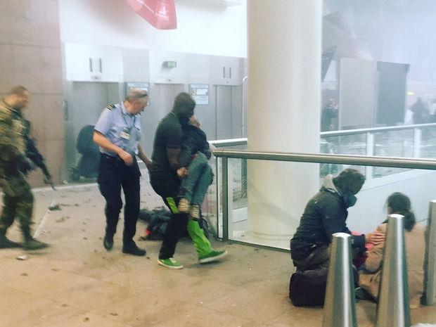 Brusel, letisko, výbuch