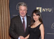 Herec Alec Baldwin a jeho tehotná manželka Hilaria Baldwin.
