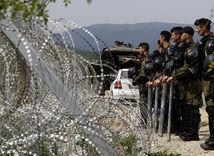 macedónsko, grécko, hranice, hraničný plot, utečenci, migranti,
