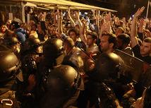 macedónsko, protest, demonštrácia, skopje,