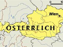 mapa Rakúsko Európa
