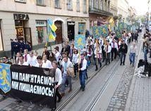 ukrajina, Ľvov, pochod,