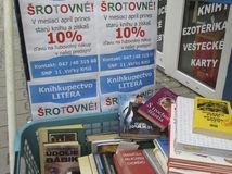 knihy, kníhkupectvo, veľký krtíš, reklama