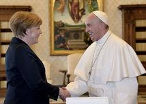 Pápež, František, Merkelová