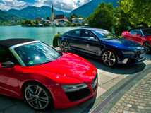 Bavorsko, autá, Nemecko, jazero, Audi,