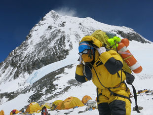Nepá, Mount Everest, Himaláje, hory, turista, horolezec, nosič