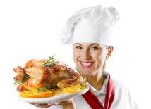 tanier, kuchár, varenie, pečené kura, obed, diéta, večera, reštaurácia, gastronómia