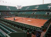 centrálny kurt, Roland Garros, dážď