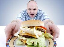 jedlo, muž, tanier, burger