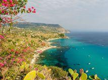 Taliansko, Capo Vaticano, more, leto, dovolenka, pobrežie, pláž, letné dovolenka, kaktus, útesy, cestovanie